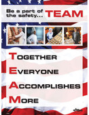 Restaurant TEAM Safety Poster (24 by 32 inch)