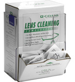 Lens Cleaning Towelette / Respirator Wipe - Box Holder, CLEAR PLASTIC