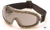 Pyramex Capstone Low Profile Goggles Smoke Lens