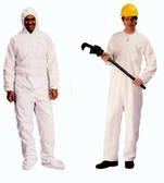 Polypropylene Heavyweight Coveralls 2 Oz Standard Coverall with Zipper Front (25 per case)