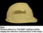ERB # 19574 Safety Helmet 4 Inch Reflective Stripes - Silver