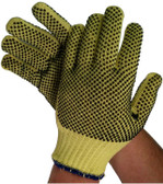 Unlined 100% Kevlar® Fiber Glove with Dots on Both Sides (sold by the dozen)