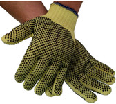 Unlined Economy Kevlar®/Cotton Mix Glove with Dots on Both Sides (sold by the dozen)