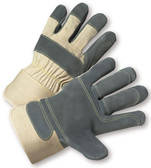 Heavy Duty Double Palm Leather Glove with Kevlar Stitching (sold by the dozen)