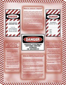 Lockout / Tagout Informational Poster - 18X24