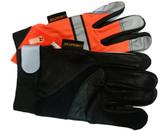 Hi-Vis Grain Cowhide Multi-Task Glove w/ Velcro Closure, Orange (PAIR)
