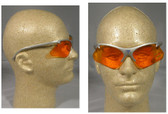 Smith & Wesson Code 4 Gray Frame/Orange Lens Safety Glasses