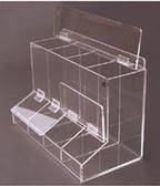 """Multi-Use Dispenser - 4 Compartment - 17-1/4""""W X 12""""H X 9-1/4""""D"""
