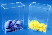 "Accessory Bin - Amber Acrylic - 12""W X 17""H X 6""D 1/4"""