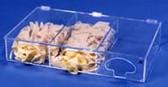 3-Compartment Glove Disp. - Amber