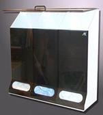 "3-Comp. Multi-Purpose Disp. Smoke Acrylic - 30""W X 30""H X10""D"