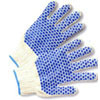 Cotton Knit Glove with PVC Blocks on Both Sides (sold by the dozen)