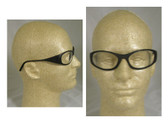Crews Frostbite II Black Frame/Clear Lens Safety Glasses