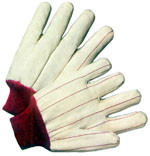 Cotton Red Line glove with Red Wrist (sold by the dozen)