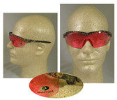 Crews Mossy Oak Series, Vermillion Lens Camouflage Safety Glasses