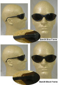 Uvex Bandit Safety Glasses, Black Frame - Espresso Lens