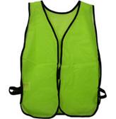 Tight weave Lime safety vests Plain
