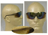 Uvex Genesis Safety Glasses, Earth Frame - Gold Mirror Lens