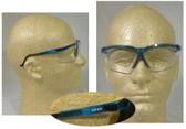 Uvex Genesis Safety Glasses, Vapor Blue Frame - Clear Lens