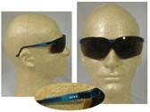 Uvex Genesis Safety Glasses, Vapor Blue Frame - Espresso Lens