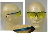 Uvex Genesis Safety Glasses, Vapor Blue Frame - Amber Lens