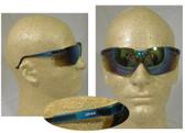 Uvex Genesis Safety Glasses, Vapor Blue Frame - Gold Mirror Lens