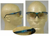 Uvex Genesis Safety Glasses, Vapor Blue Frame - Indoor Outdoor Lens