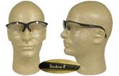 Pyramex Venture II Safety Glasses, Black Frame - Fog Free Clear Lens