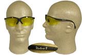 Pyramex Venture II Safety Glasses, Black Frame - Amber Lens