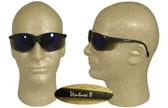 Pyramex Venture II Safety Glasses, Black Frame - Blue Mirror Lens