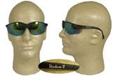 Pyramex Venture II Safety Glasses, Black Frame - Gold Mirror Lens