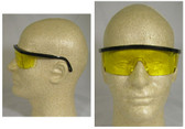 Pyramex Integra Safety Glasses Black Frame w/ Amber Lens