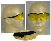 Crews Storm Safety Glasses Black Frame w/ Amber Lens