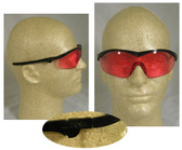 Crews Storm Safety Glasses Black Frame w/ Vermillion Lens