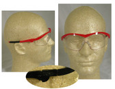 Crews Storm Safety Glasses Red Frame w/ Clear Lens