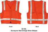 Surveyors Vest Orange Silver Stripes