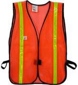 Safety Vests Orange Standard (1 inch Lime Stripes)