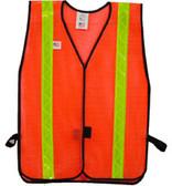 Safety Vests Orange Standard (1 3/8 inch Lime Stripes)