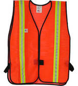 Safety Vests Orange Standard (1 3/8 Inch Yellow/Silver Stripes)