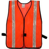 Safety Vests Orange Standard (1 3/8 inch Silver Stripes)