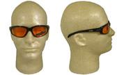 Edge Wolverine (Dakura) Safety Glasses Black Frame w/ Orange Lens