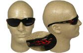 Edge Wolverine (Dakura) Safety Glasses Black Frame w/ Flame Logo and Smoke lens