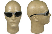 Edge Wolverine (Dakura) Safety Glasses Silver Frame w/ Smoke Lens