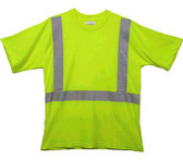 Class Two Level 2 LIME safety MESH SHIRTS with Silver stripes