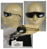 Crews Metal Triwear Safety Glasses w/ Anti-Fog Smoke Lens