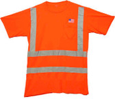 Class Three Level 2 ORANGE safety MESH SHIRTS with Silver stripes