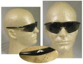 Crews Tremor Safety Glasses, Onyx Frame w/ Smoke Lens