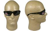 Edge McKinley (Polarized Dakura) Safety Glasses Black Frame w/ Polar G15 Silver Mirror Lens