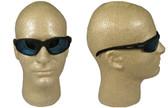 Edge McKinley (Polarized Dakura) Safety Glasses Black Frame w/ Polar A.P. Blue Mirror Lens