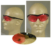 Crews Winchester Series Ratchet Temple Vermillion Lens Safety Glasses